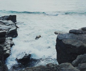 sea, ocean, and rocks image