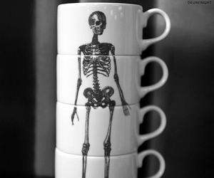 cup, skeleton, and skull image