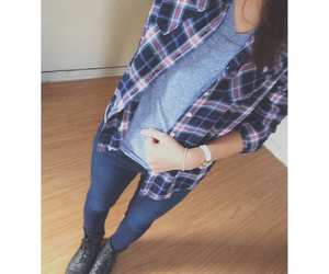 casual, fashion, and flannel image