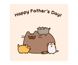 cat, happy father's day, and pusheen image