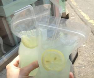 lemonade, lemon, and drink image