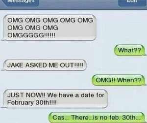 funny, OMG, and date image