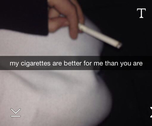 cigarette, grunge, and snapchat image