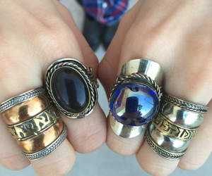 gypsy, hippie, and rings image