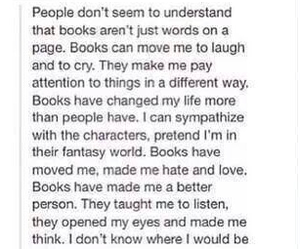 books, quotes, and cry image