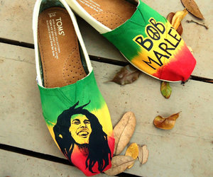 bob marley and shoes image