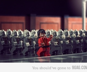 lego, thriller, and michael jackson image