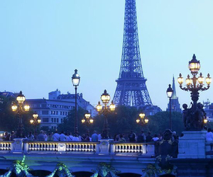 paris, eiffel tower, and blue image