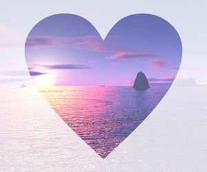 heart, summer, and sea image