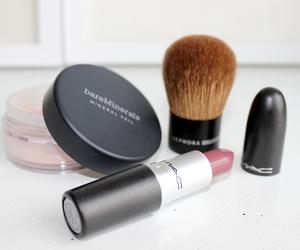 mac, make up, and lipstick image