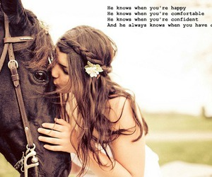 girl, quote, and horse image