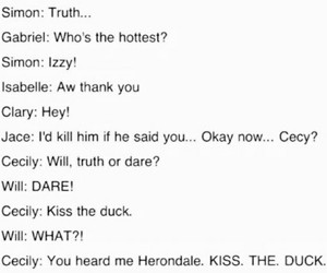 duck, clary fray, and tmi image