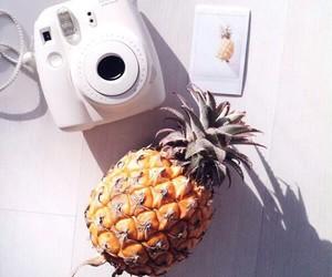 pineapple, polaroid, and summer image