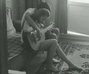 beautiful, playing guitar, and Relationship image
