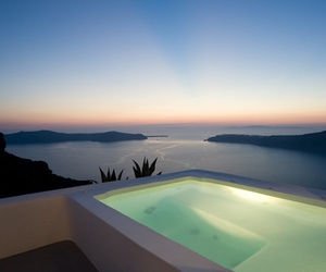 pool, Greece, and travel image