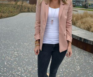 blazer, outfit, and clarks image