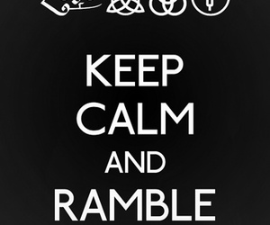 led zeppelin, keep calm, and ramble on image