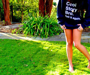 girl, cool story bro, and bro image
