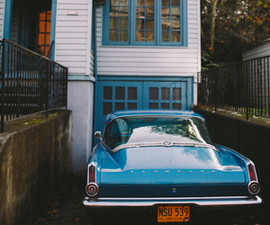 car, vintage, and house image