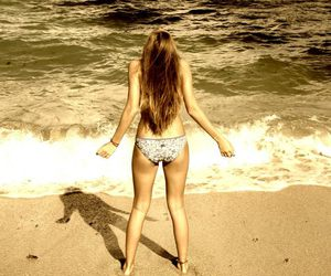 beach, blonde, and freedom image