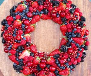 beautiful, black berries, and blue berries image