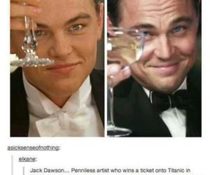 titanic, leonardo dicaprio, and jay gatsby image