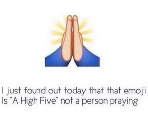 emoji, funny, and high five image
