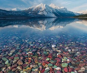nature, mountains, and water image