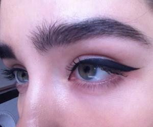 eyebrows, eyes, and eyeliner image