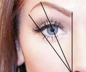 eyes, girls, and brows image