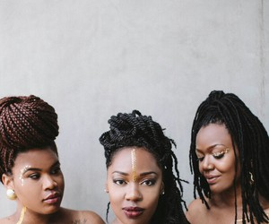 Afro, braids, and friends image