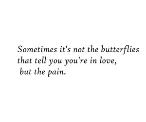 quote, pain, and love image