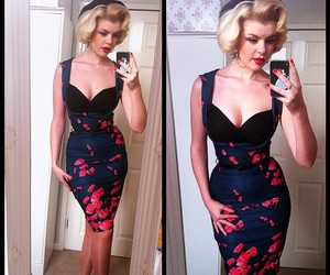 50's, curvy, and Pin Up image