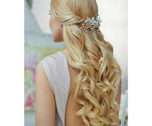 hair, blonde, and wedding image