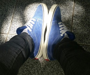 blue, cool, and sneakers image