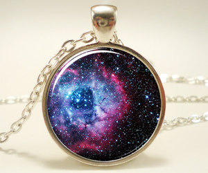 galaxy, necklace, and hipster image