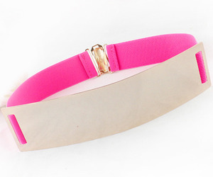 white and pink belt image
