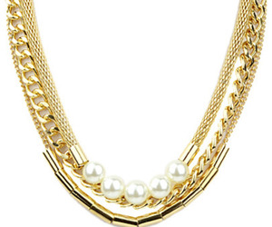 gold and pearl neckless image