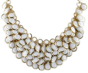 gold and white neckless image