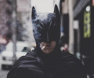 batman, smoke, and cigarette image