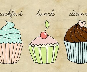 cupcake, lunch, and breakfast image