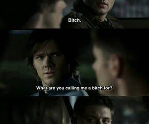 supernatural, bitch, and funny image
