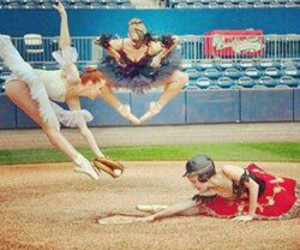 ballet, baseball, and dance image