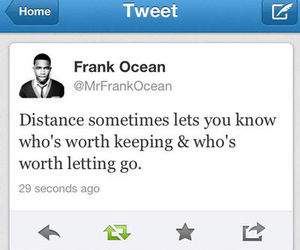 quote, distance, and frank ocean image