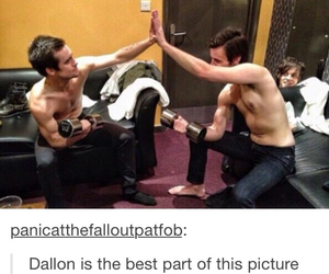 brendon urie, spencer smith, and dallon weekes image