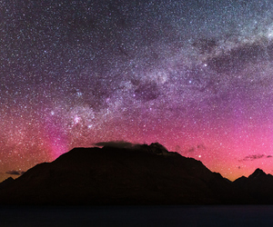 milkyway, new zealand, and stars image