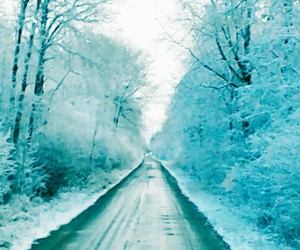 beautiful, road, and snow image