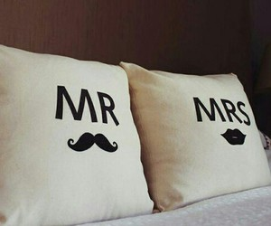 mr, mrs, and pillow image