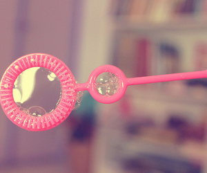 bubbles and pink image