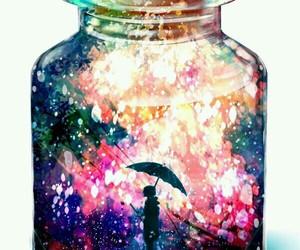 art, umbrella, and bottle image